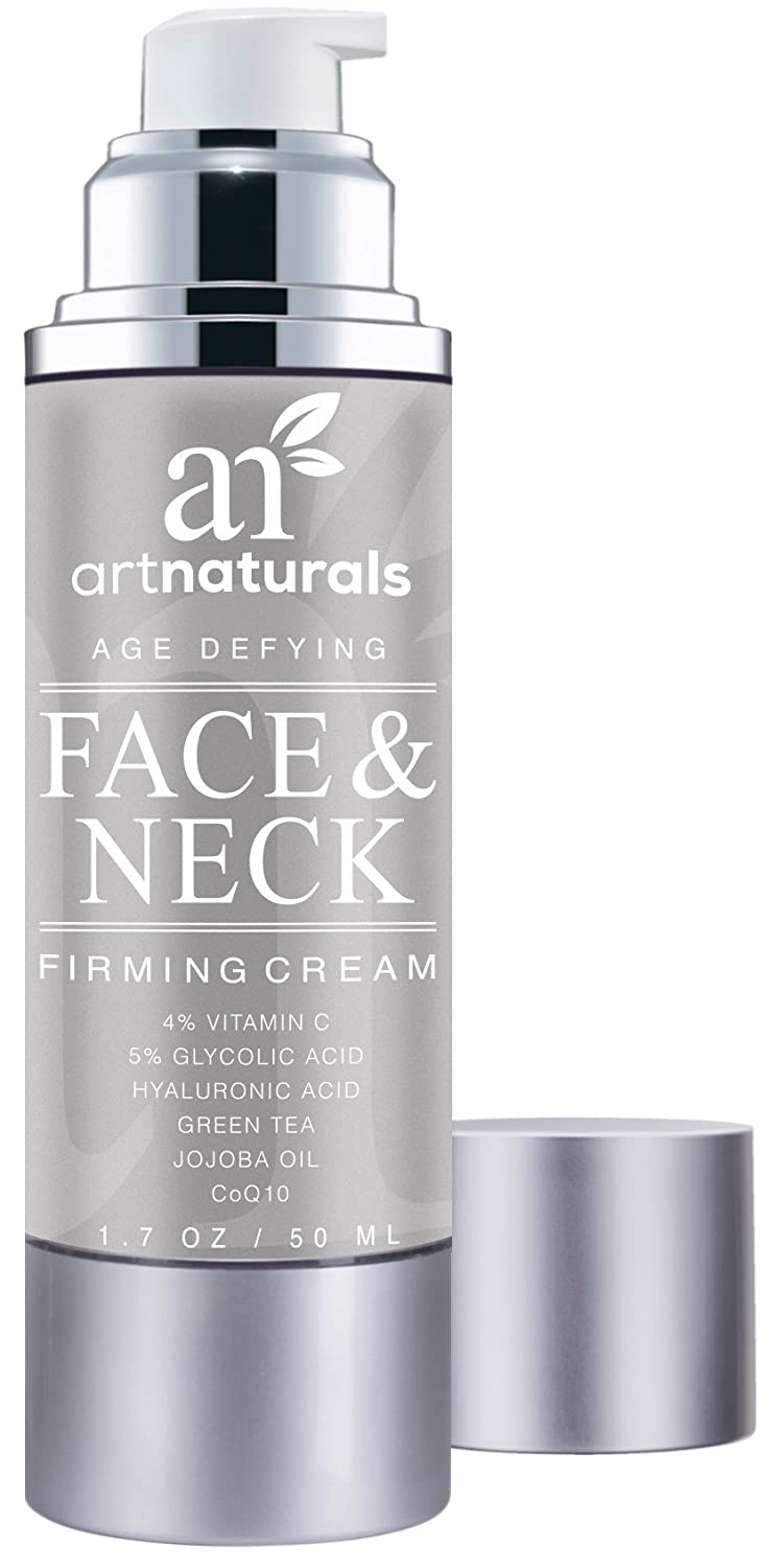ArtNaturals Neck Firming Cream Active Ingredient Vitamin C Serum, Use as Daily Moisturizer on Your Face, Chest & Body, Best for Tightening Loose & Sagging Skin, Reduces Wrinkles & Fine Lines, 1.7 oz ANGA-0126