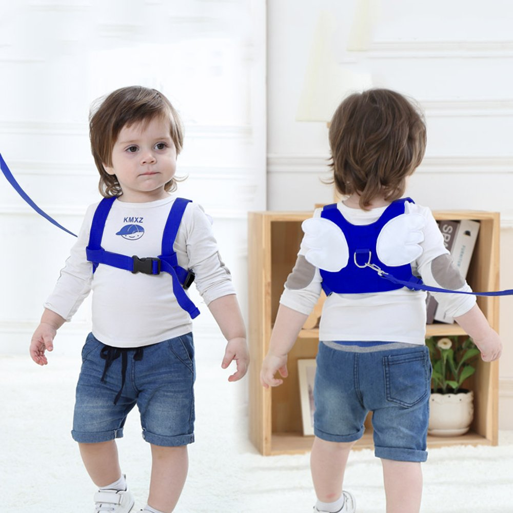 (2 kit)Anti Lost Wrist Link 2 meters Wrist Leash for Kids & Toddlers Child Safety Wristband (Blue) by MPAYIXUNGS (Image #3)