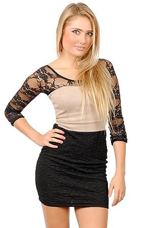 8f09cd484fa6aa Sleevey Wonders Women s Black Lace Reversible Slip-on 3 4 Sleeves at Amazon  Women s Clothing store