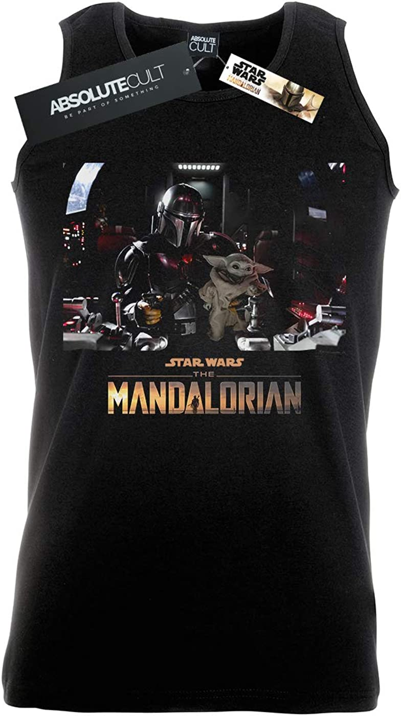 Star Wars Homme The Mandalorian Child on Board Tank Top
