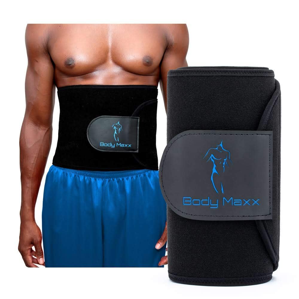 Body Maxx: Men's Waist Slimmer - Sweat Belt - Waist Trimming & Training for Men - Eliminate Belly Fat - Naturally Lose Weight - Tone Stomach