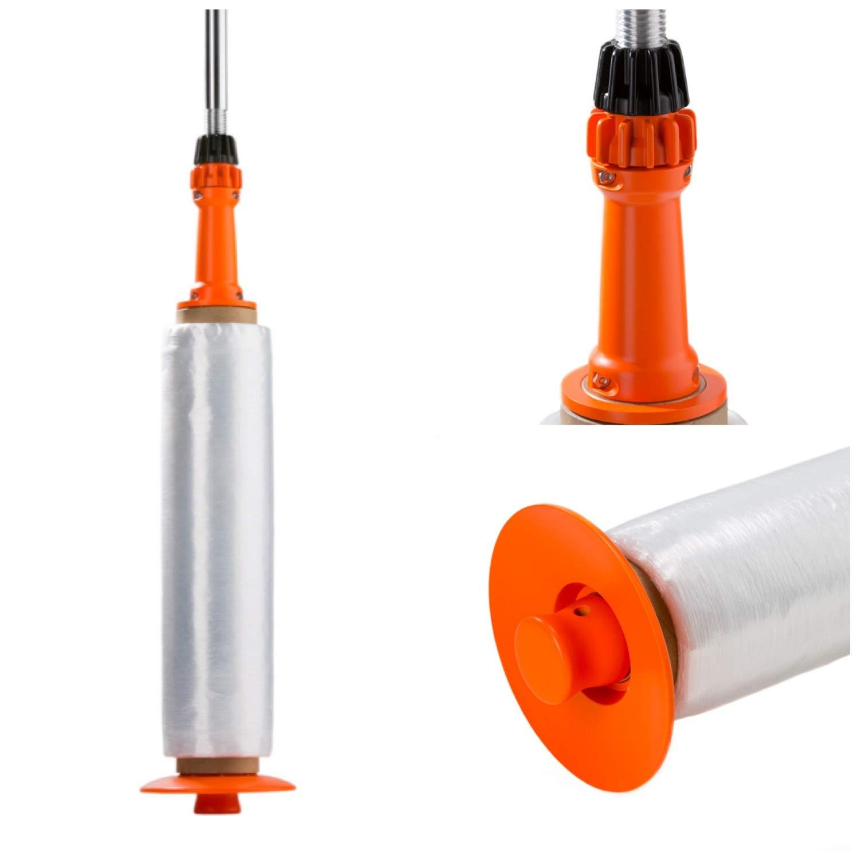 Wrap-Stik Stretch Film Long Handle Stretch Wrapper 12''-20'' Black/Orange 1 Dispenser by PackagingSuppliesByMail