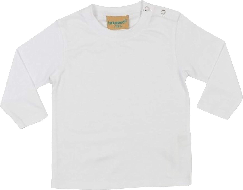 Larkwood- Camiseta de manga larga lisa para bebé unisex (0-6 meses ...