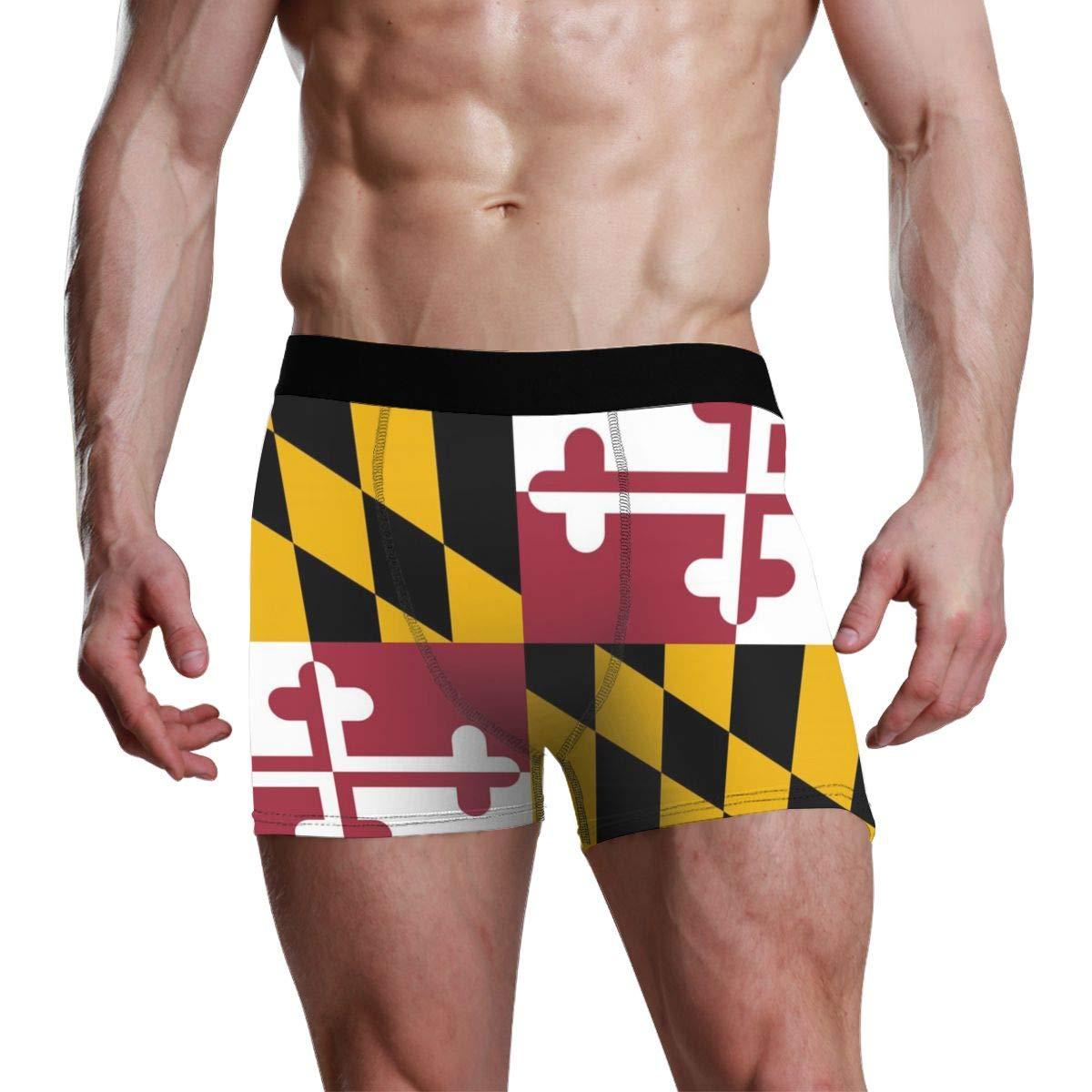 Oanngp547-id Maryland Flag Mens Sport Boxer Brief Breathable Underwear