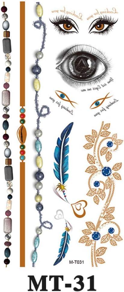 9 piezas pegatinas de tatuaje creativas pegatinas de tatuaje ...