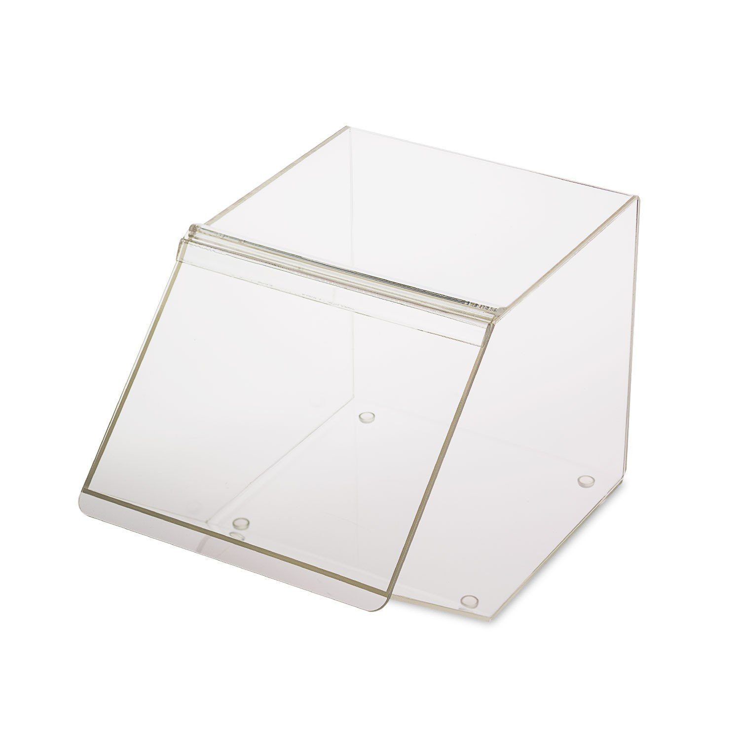 Source One LLC FDA Approved Food Grade Clear Acrylic Candy Bins (No Scoop Holder, 4 Pack)