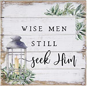 Simply Said, INC Perfect Pallets Petites - Wise Men Still Seek Him, 8x8 in Wood Sign PET16548