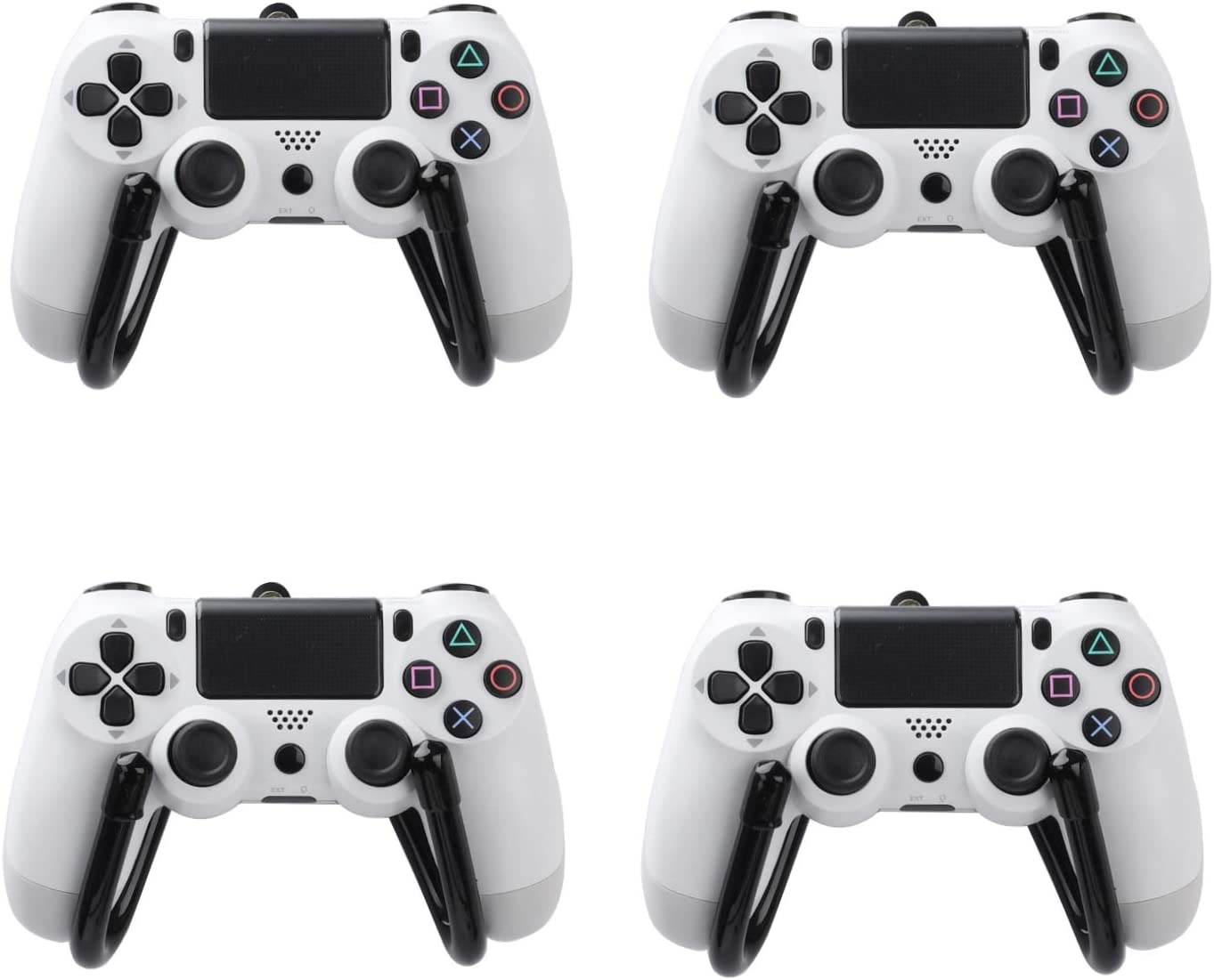 4 Pack Small Universal Game Controller Organizer Wall Mount Holder Hanger Rack Hook Stand for PS4 Xbox One Switch Pro Game Controller - Not Include Game Controllers