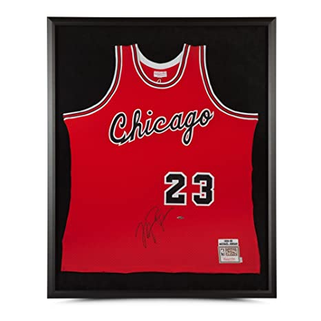 best website a1b5c 3144d MICHAEL JORDAN MITCHELL & NESS RED ROOKIE JERSEY - FRAMED at ...