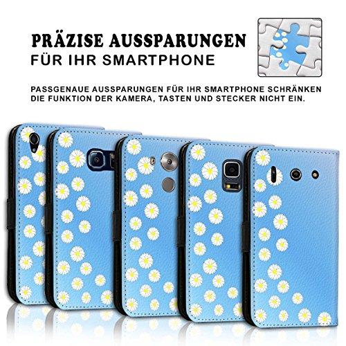 Wallet Book Style Flip Handy Tasche Case Schutz Hülle Schale Motiv Etui für Apple iPhone 4 / 4S - Design Flip MV292