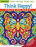 Best Coloring Pens For Adults - Think Happy! Coloring Book: Craft, Pattern, Color, Chill Review