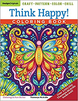 Think Happy Coloring Book Craft Pattern Color Chill Thaneeya