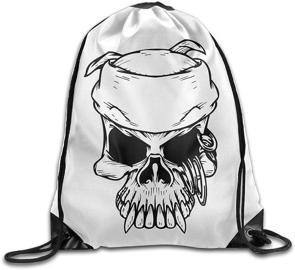 Pirate Skull Allan J Beasley Folding Sport Backpack Casual Daypacks for Team Group Men Women