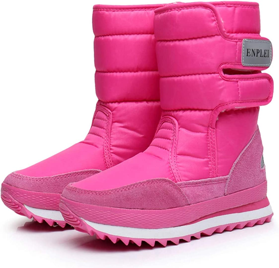 Womens Winter Snow Shoes Waterproof Mid Calf Boots Anti-slip Thermal Comfy Shoes