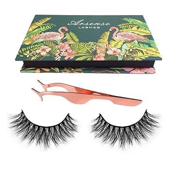 166cc98130e 3D Mink Lashes Hand-made Dramatic Makeup Strip Lashes 100% Siberian Fur Fake  Eyelashes