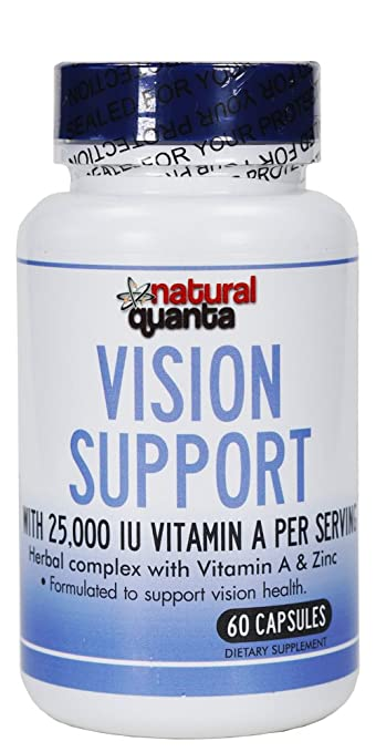 Vision Support with 25,000 IU Vitamin A per Serving Herbal Complex with Vitamin A & Zinc