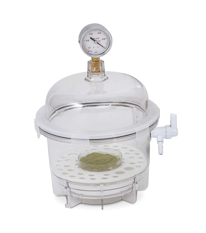 Bel-Art Lab Companion Clear Polycarbonate Round Style Vacuum Desiccator; 6 Liter (F42400-2021)