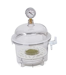 Bel-Art Lab Companion Clear Polycarbonate Round Style Vacuum Desiccator; 6 Liter (F42400-2021)
