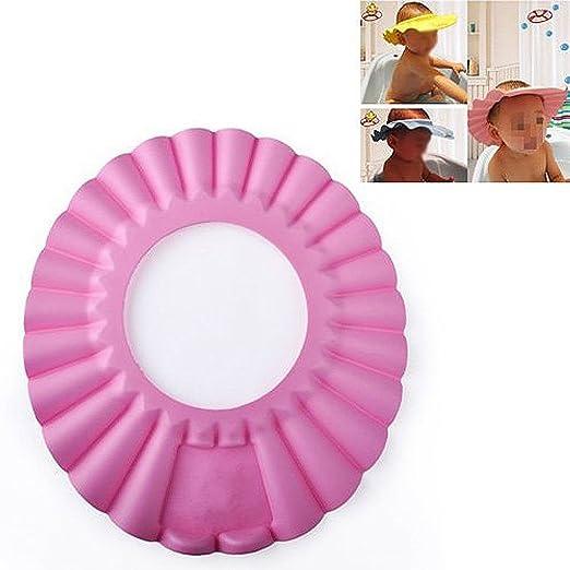 23 opinioni per SODIAL(R)- Cappellino morbido da bagno per bambini, protezione antishampoo,