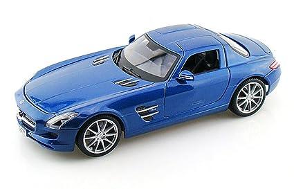 Mercedes Benz SLS AMG, Blue - Maisto Premiere 36196 - 1/18 Scale Diecast