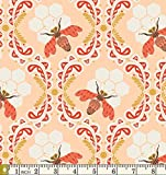 Bee Sweet Afternoon Sweet as Honey Bonnie Christine Art Gallery Fabric SAH-2602 Beehive Bees Honeycomb (Fat quarter)