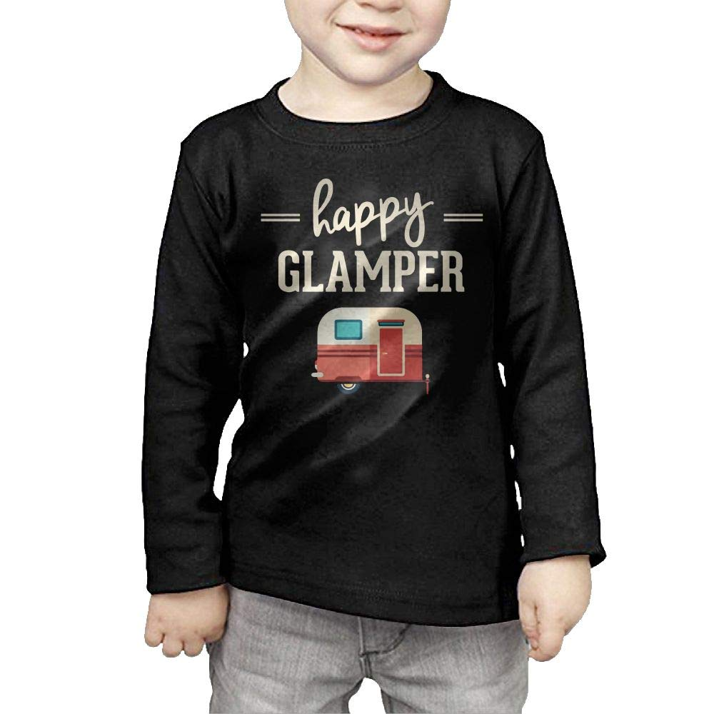 Fryhyu8 Toddler Kids Happy Camp Happy Glamper Printed Long Sleeve 100/% Cotton Infants Clothes