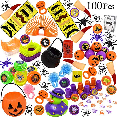 100 Pieces Halloween Toys Assortment