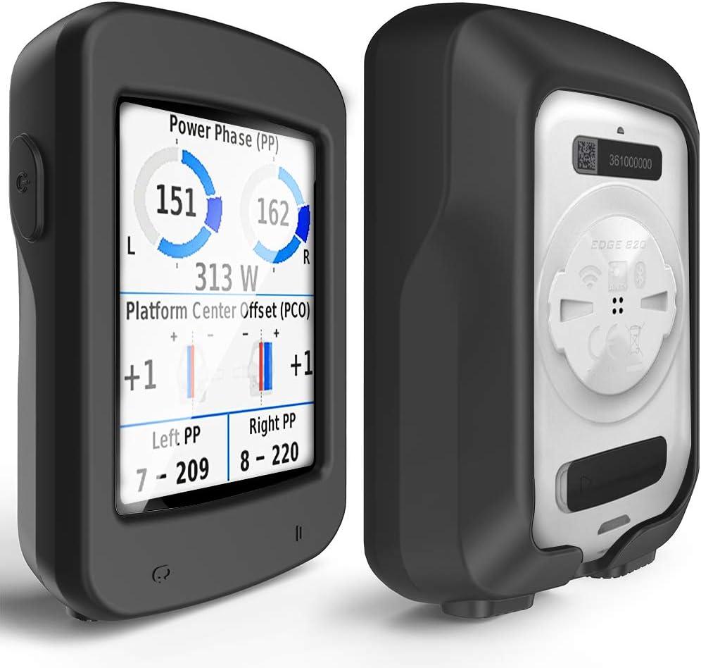 TUSITA Case for Garmin Edge Explore 820 - Silicone Protective Cover - GPS Bike Computer Accessories