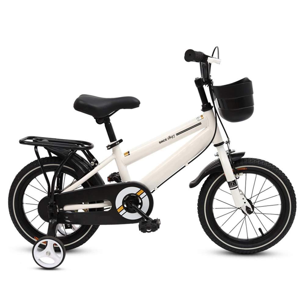 YANGFEI ベビーカー 子供の自転車、トレーニングホイール付きの男の子の自転車調節可能なハンドルバーシート12-14-16-18-インチ ショックアブソーバタイヤ 18 inch Red B07MP1995S