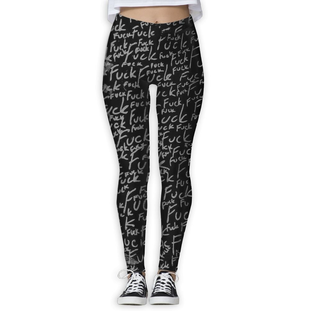 JHIKFYU Fuck Printing Compression Leggings Pants Tights for Women S-XL