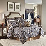 CROSCILL Aurelio 4 Piece King Comforter Set Blue