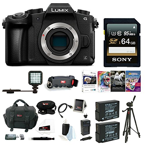 Panasonic LUMIX DMC-G85KBODY Body w/ Lens Bundle (DMC-G85K Body Deluxe Bundle)