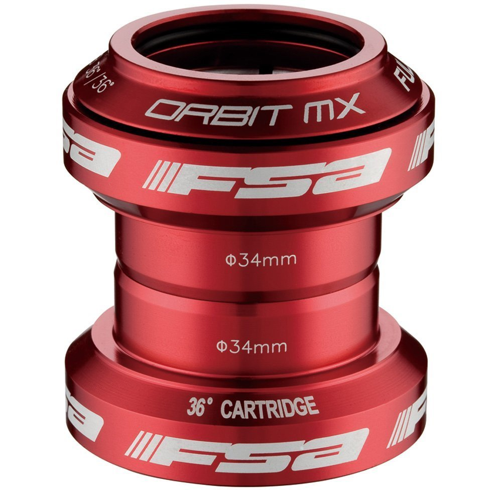 FSA Orbit MX Headset 1-1/8 Red [並行輸入品] B0784H5MMP