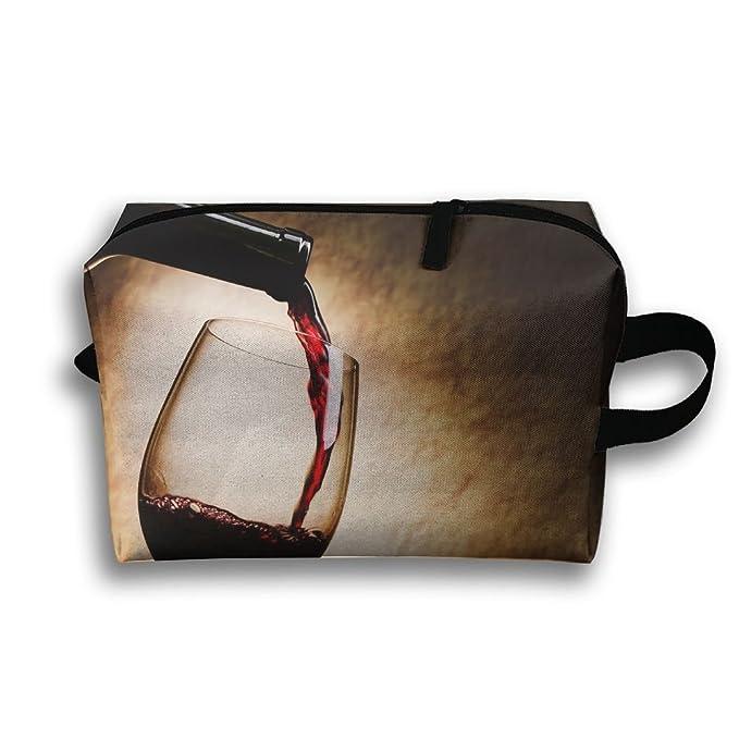 Amazon.com: Vino tinto botella de vidrio Art bolsa de viaje ...