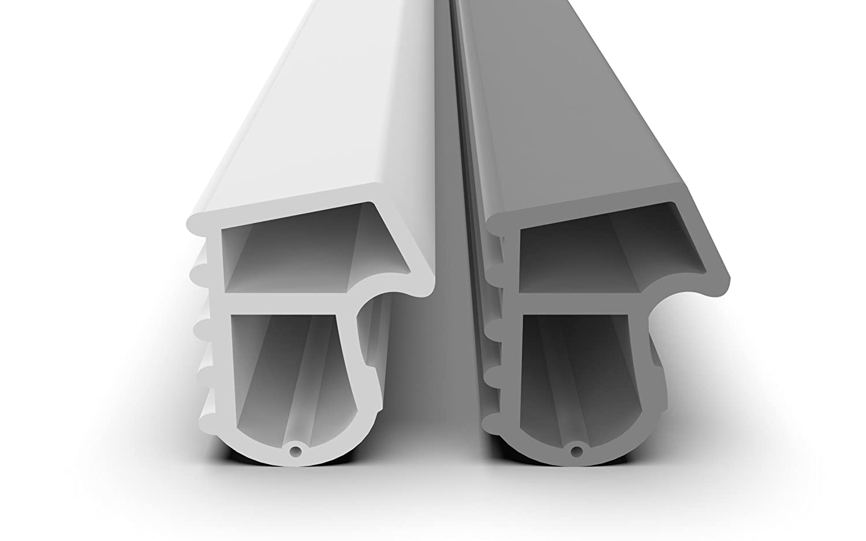 Stahlzargendichtung gegen Zugluft, Lärm & Staub, spart Heizkosten, Dichtung, Dichtband, 4mm Nutbreite 7mm Nuttiefe 12mm Falz, Türdichtung, Gummidichtung, Zimmertürdichtung (Weiss 25m)