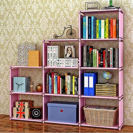 Book Shelf Shelves 30 Inch Bookcase Folding Bookshelf Pink