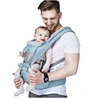 All Seasons Classic Baby/Child Carrier and Sling with Hip Seat/Stool for Infant&Toddler,Ergonomic and 100% Cotton w/Cool…