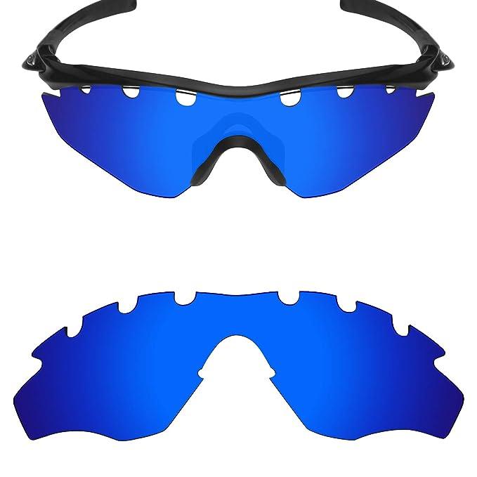 MRY polarizadas lentes de repuesto para Oakley M2 Frame con ventilación gafas de sol Deep Blue