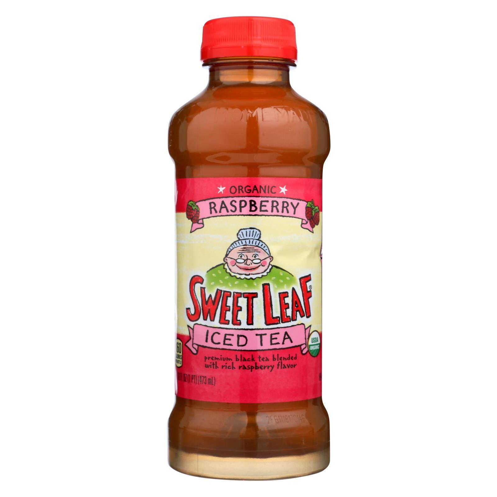Sweet Leaf Tea Black Iced Tea - Organic Raspberry - Case of 12 - 16 Fl oz.