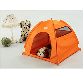 One-Touch Portable Folding large Dog House tent for indooroutdoor waterproof (orange  sc 1 st  Amazon.com & Amazon.com : One-Touch Portable Folding large Dog House tent for ...