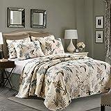 queen quilt birds - Flying Bird Cotton 3 Piece Patchwork Bedspread/Quilt Set,Queen