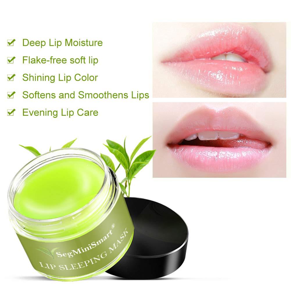 Lip Sleeping Mask, Lip Mask, Overnight Lip Mask, Lip Treatment, Moisturizing Green Tea Matcha Lip Mask, Sleeping Lip Balm, Peeling Lips, Lip Primer, Lip Scrub, Chapped Skin by SEGMINISMART