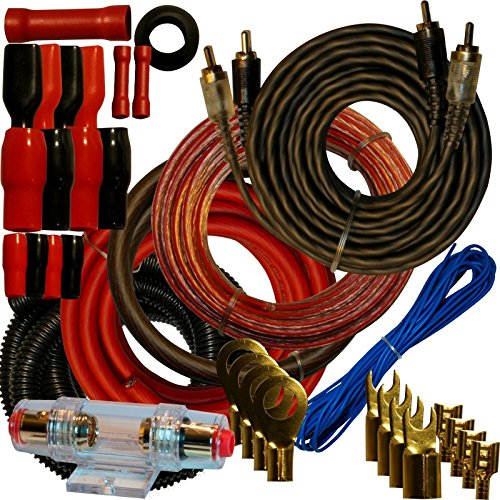 - 4 Gauge Amplfier Power Kit for Amp Install Wiring Complete RCA Cable RED 2800W