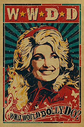 Vintage Iron On Transfers - Vintage Dolly Parton Poster Iron On Transfer for T-Shirts & Other Light Color Fabrics #2