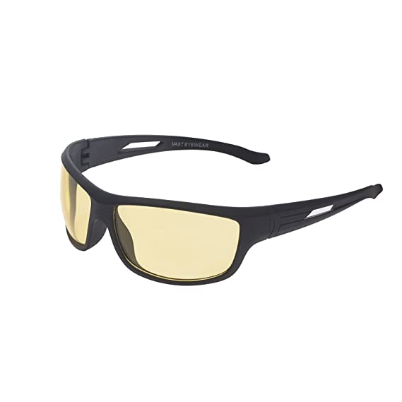 a7d350a2603 Vast UV Protected Wrap Around Unisex Sunglasses (NT YELLOW K