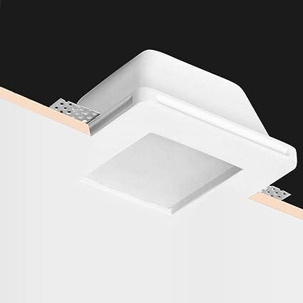 Futur Print® - Soporte de foco de yeso para empotrar, se puede pintar,