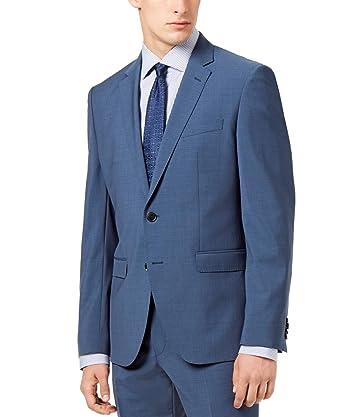 a396b86a17d Hugo Boss 2 Piece Men s Suit Set Slim Fit 100% Wool Jefferd Stedson182 Wool  Med Blue Suit Hugo Retail Price  645.00