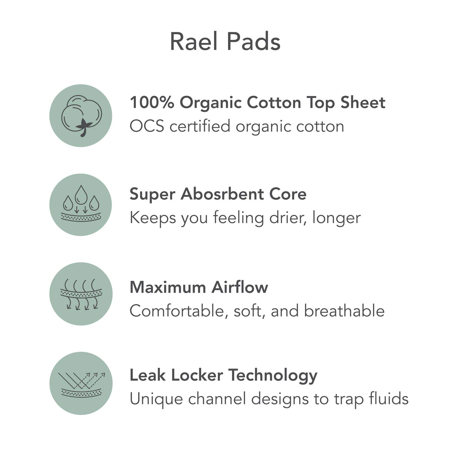 Organic Cotton Menstrual Pads - Petite Size, Ultra Thin & Light Natural Sanitary Napkins with Wings (56 Total), Pack of 4