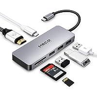 MECO ELEVERDE USB C Hub, 7 Ports Multifunktions Typ C Adapter (USB-C+USB3.0+2-Ports USB2.0+4K HDMI+SD/TF-Kartenleser) für MacBook Pro Chromebook,Sumsung S8, Huawei Mate 10 und Mehr Typ C Geräte