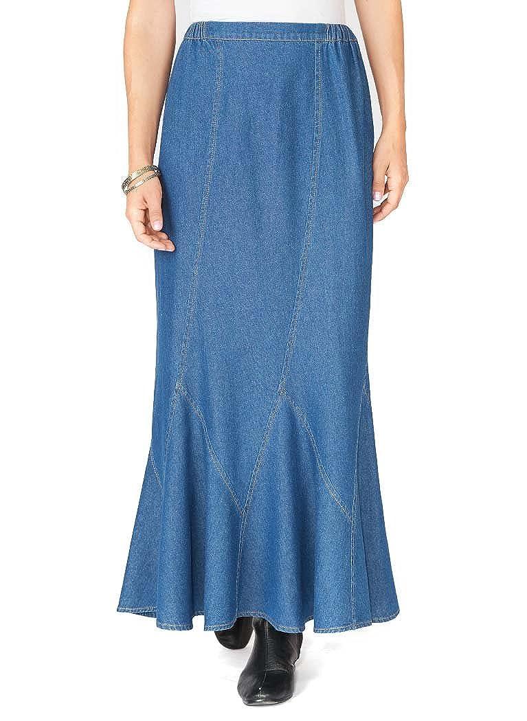 85b6d35a21 AmeriMark Gored Denim Skirt at Amazon Women's Clothing store: